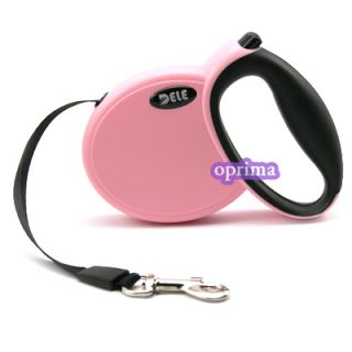 Pet Dog Lead Retractable Leash Extend Flexible Safe Lock Strong Cord 9 Feet Pink