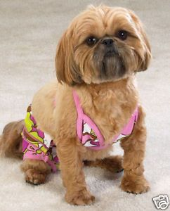 Casual Canine Maui Flowers Bikini Small Dog Clothes
