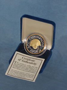 1994 San Diego Chargers NFL Silver and Gold AFC Championship Coin
