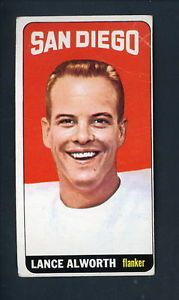 1965 Topps Football 155 Lance Alworth San Diego Chargers