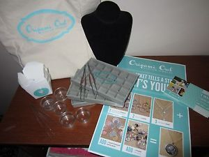 Origami Owl Business Lot Charm Case Glass Votives Tweezers Display Supplies