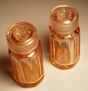 Pink Depression Glass Salt and Pepper Shakers