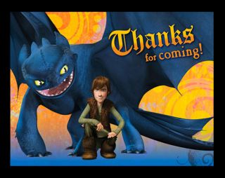 8 How to Train Your Dragon Thank You Cards Birthday Party Supplies