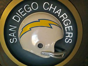 Vintage San Diego Chargers Helmet Wall Plaque Nice