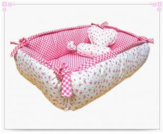 100 Cotton Pet Dog Cat Handmade Square Bed House s M L