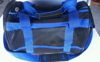 New Fashion Pet Travel Gear Blue Black Carrier Great for Plane for Small Dog