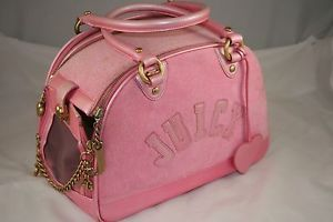 Juicy Couture Pink Dog Carrier Gorgeous Leather and Terry Perfect for Small Dogs