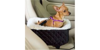 Car SUV Center Console Small Dog Bed Black Booster Seat