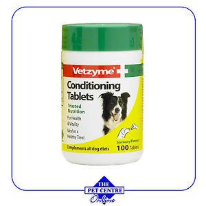 Vetzyme Conditioning Tablets x 100 Dog Supplements