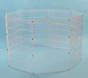 "New 42"" Pet Dog Cat Small Animals Exercise Pen 8 Panels Playpen Fence"