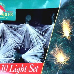 Vintage Fiber Optic Christmas Light Set Kurt s Adler 10 Light Set