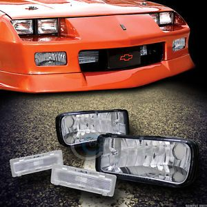 Depo Chrome Signal Bumper Clear Side Marker Lights Lamps 1985 1992 Chevy Camaro
