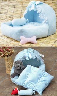 Design Prince Cute Pink Blue Pet Dog Cat Sofa Bed House