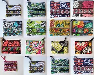 Vera Bradley Coin Purse Variety of Patterns Wallet Change Bag Clutch Coin