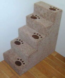 "30"" Tall Wooden Real Carpet Small Dog Steps or Cat Steps Pet Steps Hand Made"
