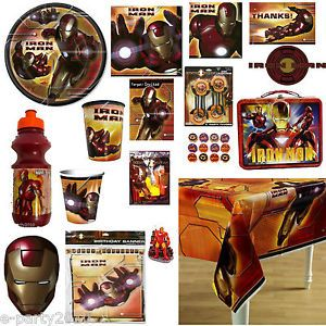 Iron Man Super Hero Birthday Party Supplies Create Your Set You Pick
