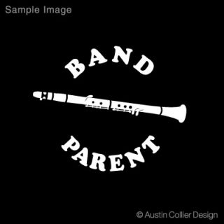 Band Parent w Clarinet Vinyl Decal Car Truck Sticker