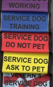 Service Dog Lead Covers Use Instead of Vest Patch Therapy Dog Lead Covers