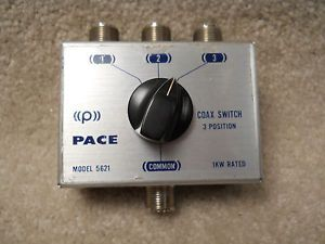 Pace Model 5621 Coaxial Cable 3 Position Switch Rated 1kW