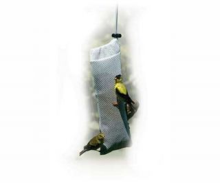 Birdfeeder Audubon's Goldfinch Thistle Sock Stocking Nyjer Bird Feeder