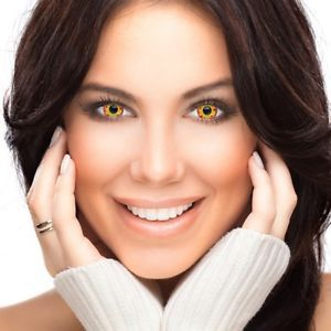 Farbige Kontaktlinsen Halloween Red and Yellow Flame Contact Lenses