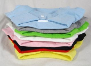 Dog Clothes Wholesale Polo T Shirts Pet Blank Tee Shirts 100 Cotton 8 Colors