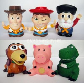 Toy Story Woody Piggy Dog Coin Bank Figures Set of 6pc Figure Toy Collection New
