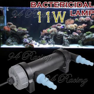 Aquarium Pond Sterilizer 11W UV Lamp Light Clarifier for Fish Tank Filter Pump