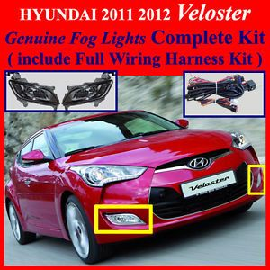 2011 2012 Hyundai Veloster Fog Light Lamp Complete Kit Wiring Harness Kit