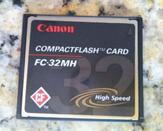 Canon 32 MB Compact Flash High Speed Memory Card FC 32MH Pictures Camera Storage