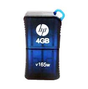 HP V165W 4GB 4G USB Flash Drive Nano Compact Memory Disk Stick Blue