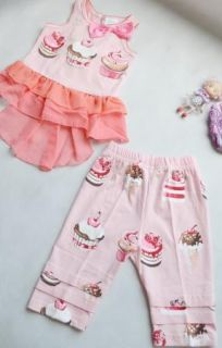 Girls Baby Ruffle Top Dress Pants Set 0 4years Bloomers Clothing 2 Pcs Costume