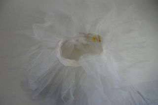 Little Girls White Net Tulle Tutu Dancing Party Ballerina Dress Up Costume SZ6