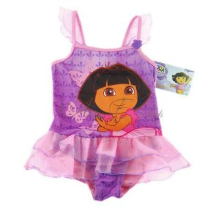Girl Princess Dora Baby Tutu Swimsuit Swimwear Swimming Costume Bathers Sz 1 4 Y