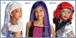 Monster High Abbey Bominable Spectra Vondergeist Operetta Halloween Costume Wigs