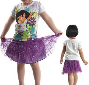 2pcs Kid Girl Dora Pricess Baby Dress Skirt Shirt Party Tutu Outfit Costume 1 5Y