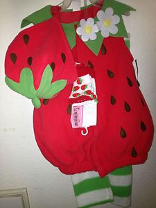 Old Navy Baby Girls Infant Strawberry Halloween Costume Hat 12 24 mos Socks