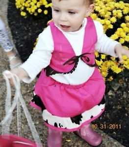 Gymboree Pink Cowgirl Baby Girl Costume 6 12 Months 12