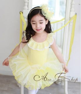 Girls Ballet Dance Leotard Party Costume Dress Skirt Tutu Fancy Outfit 5 12y