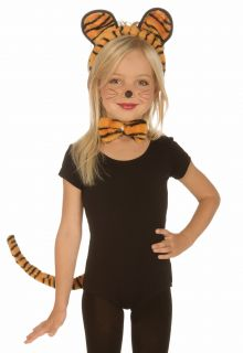 Kids Girls Tiger Cat Halloween Costume Kit