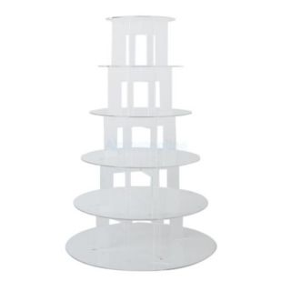 New 6 Tier Clear Acrylic Round Cupcake Stand Wedding Party Display Baby Shower