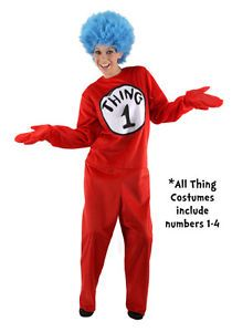 Deluxe Thing One Adult Dr Seuss Halloween Costume