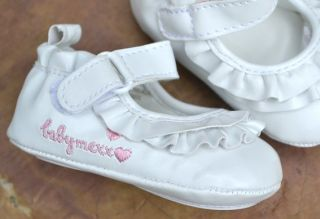White Mary Jane Baby Toddler Girl Shoes Size 1 2 3