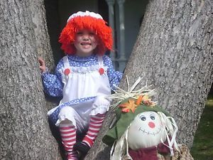 Toddler 2 4 Raggedy Ann Halloween Costume