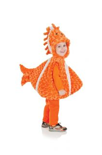 Belly Babies Big Mouth Clown Fish Costume Child Toddler Orange White New