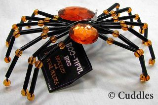 Spider Bracelet Pony Tail Holder Bug Orange Halloween Jewelry Fun Fashion New