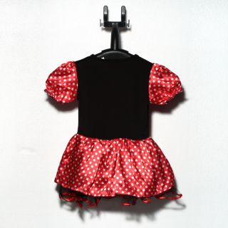 Halloween Xmas Polka Dots Minnie Mouse Baby Girl Fancy Party Costume Dress TR