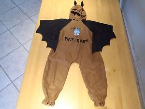 Lillian Vernon Baby Toddler Size 2 4T Brown Baby Bat Halloween 2 PC Costume