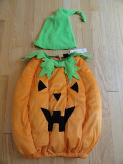 Spooked Brand Plush Halloween Pumpkin Costume Baby Boys Girls Toddler 12M