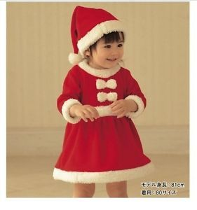Baby Girls Christmas Dress Hat Outfit Costume Party Dress Set 0 12months 80